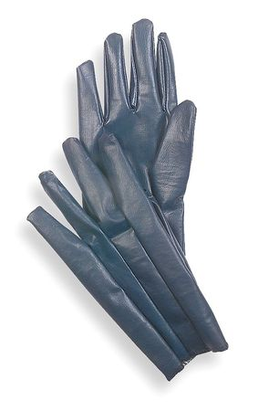 Chore Gloves, Nitrile,  M, Blue, PR