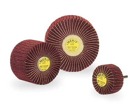 Flap Wheel, Interleaf, AO, 3x2x1/4 Shk, 180G
