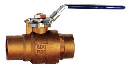 "1/2"" Sweat Brass Ball Valve Inline"