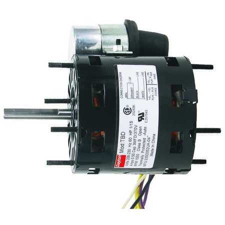 HVAC Motor, 1/10 HP, 1550 rpm, 208-230V, 3.3