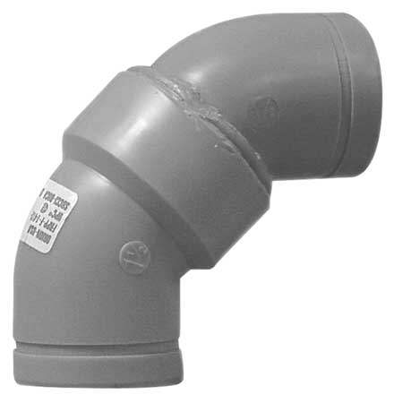 "4"" No Hub 90 Degree Long Sweep Elbow Sch 40"