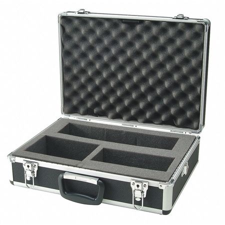 Hard Carrying Case, 18 In H, 6 In D, Silver