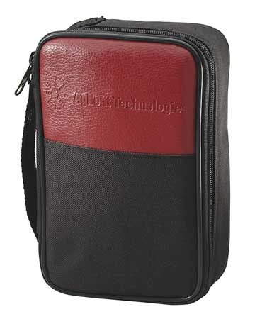 Soft Carrying Case, 3 In D, 9 In H, Blk/Red