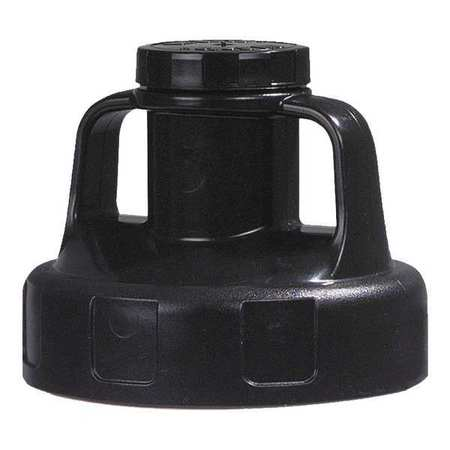 Utility Lid, w/2 In Outlet, HDPE, Black