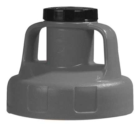 Utility Lid, w/2 In Outlet, HDPE, Gray