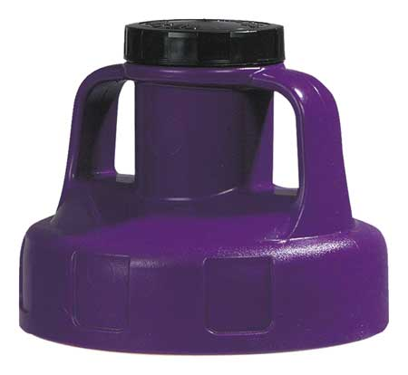 Utility Lid, w/2 In Outlet, HDPE, Purple