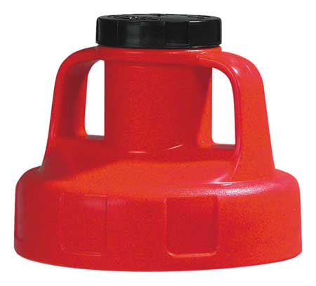 Utility Lid, w/2 In Outlet, HDPE, Red