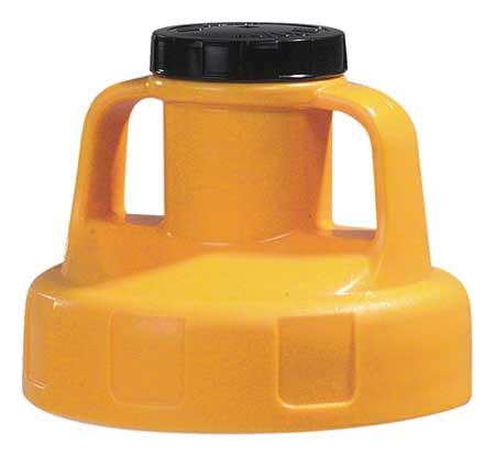 Utility Lid, w/2 In Outlet, HDPE, Yellow
