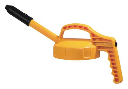 Stretch Spout Lid, w/0.5 In Outlet, Yellow
