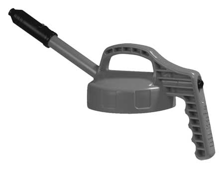 Stretch Spout Lid, w/0.5 In Outlet, Gray