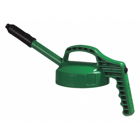 Stretch Spout Lid, w/0.5 In Out, Mid Green