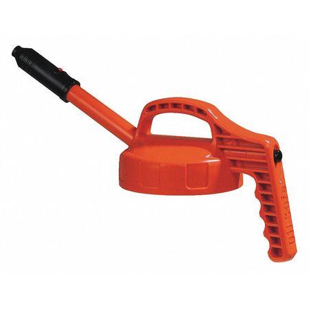 Stretch Spout Lid, w/0.5 In Outlet, Orange