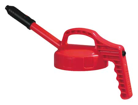 Stretch Spout Lid, w/0.5 In Outlet, Red