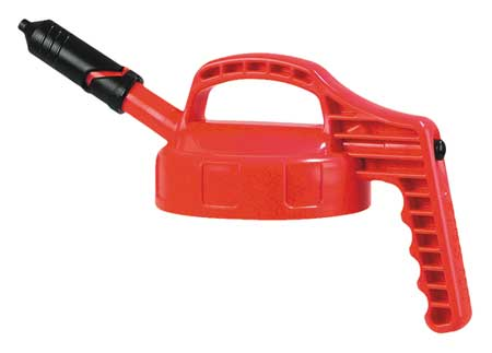 Mini Spout Lid, w/0.27 In Outlet, HDPE, Red