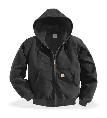 Hooded Jacket, Insulated, Black, 2XL