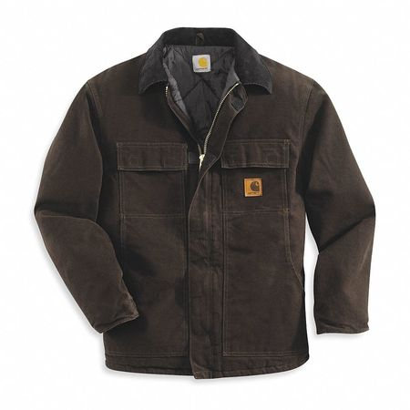 Coat, Insulated, Dark Brown, L
