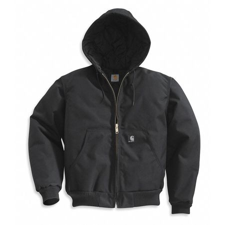 Hooded Jacket, Insulated, Black, XL