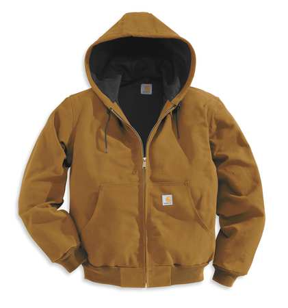 Hooded Jacket, Insulated, Brown, 4XL