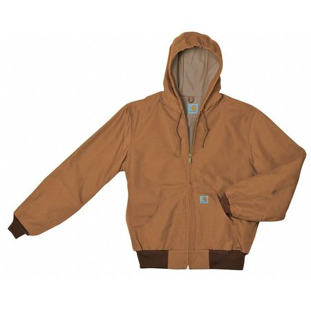 Hooded Jacket, Insulated, Brown, L