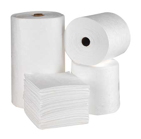 Absorbent Roll, White, 54 gal., 32 In. W