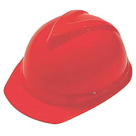 V-Gard Hard Hat, FrtBrim, Slttd, 6Rtcht, Hi-Viz Org