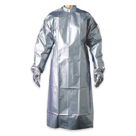 Coat Apron, Silver, 56 In. L