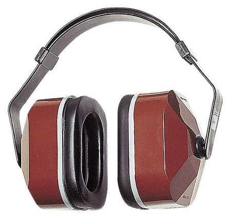 Ear Muff, 25dB, Multi-Position, Bk/Maroon