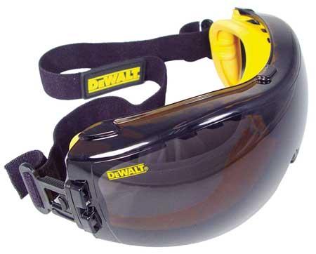 Dewalt Smoke Impact Resistant Goggles,  Anti-Fog,  Scratch-Resistant