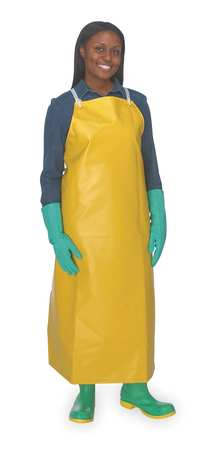 Bib Apron, Yellow, Universal, 45 In. L