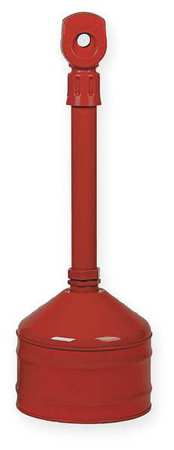 Cigarette Receptacle, 2-1/2 gal., Red