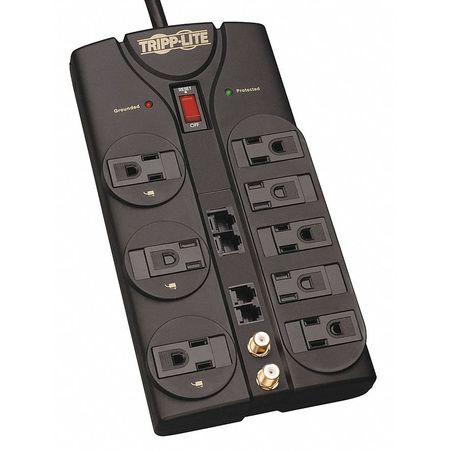 Datacom Surge Protector, 8 Outlet, Black