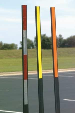 Reflective T-Post Marker, Orange/Blk, 60 H