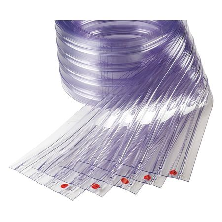 "Replacement Strips, Ribbed, 8"", PVC, PK5"