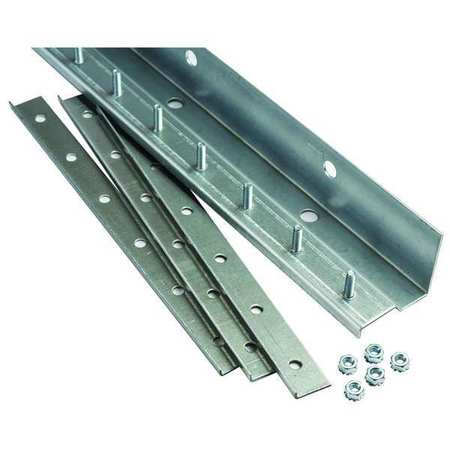 Strip Door Hardware, 4 ft., Steel