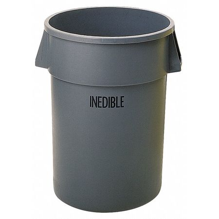 32 gal.  Round  Gray  Trash Can w/ Handles