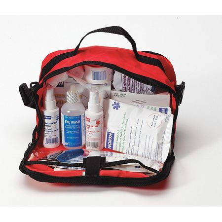 First Aid Kit, Bulk, Red, 25 People