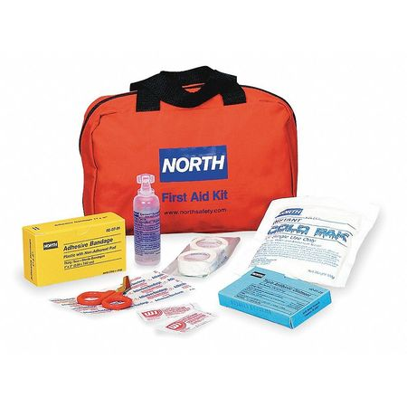 First Aid Kit, Bulk, Red, 10 People