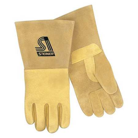 Welding Gloves, XL, Tan, Foam, Straight, PR