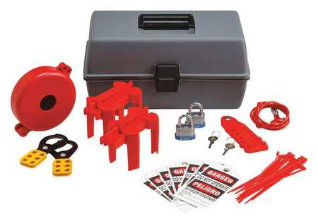 Portable Lockout Kit, Filled, Valve, 29