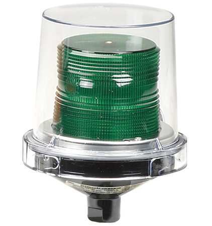 Warning Light, Incandescent, Green, 120VAC