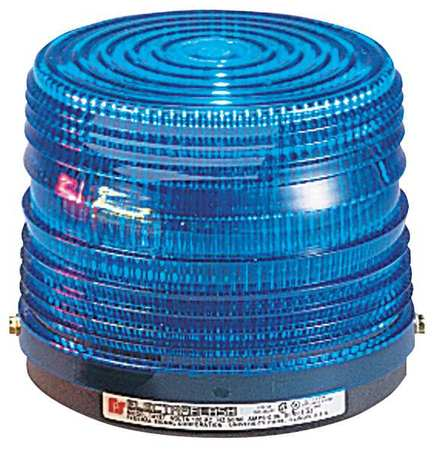 Warning Light, Strobe Tube, Blue, 120VAC