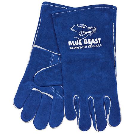 Welding Gloves, XL, Blue, PR