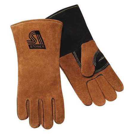 Welding Gloves, L, 14 In. L, Wing, PR