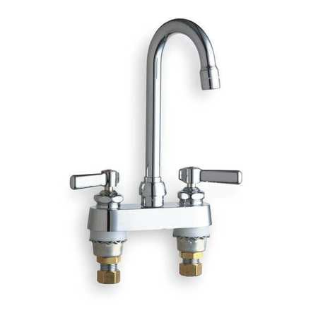 Rigid/Swing Kitchen Faucet,  Chrome,  2 Holes,  Lever Handle