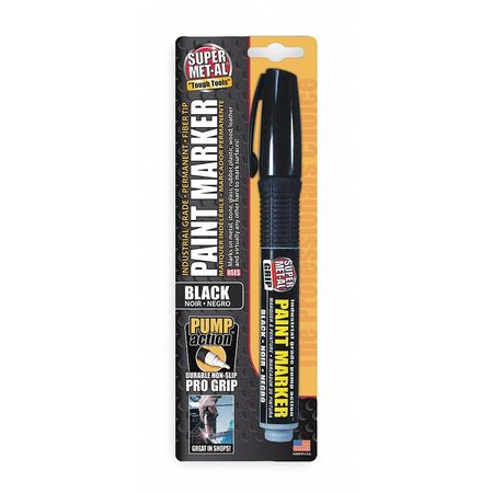Pump Action Paint Marker, Fiber Tip, Black
