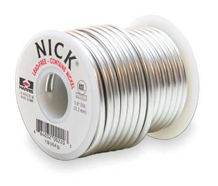 Solid Wire Solder, Lead Free, 438 to 729 F