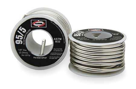 Solid Wire Solder, Lead Free, 452 to 464 F