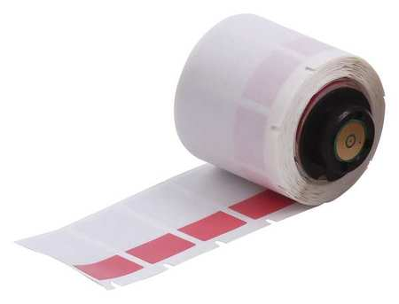 "0.750"" x 1-1/2"" Red/Translucent Label,  Self Laminating Vinyl"