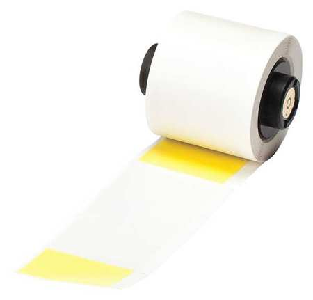 "Blank Label Yellow/Translucent 1-1/2"",  Vinyl,  Pk100"
