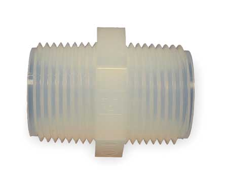 Nipple, 3/8 In, NPT, PFA